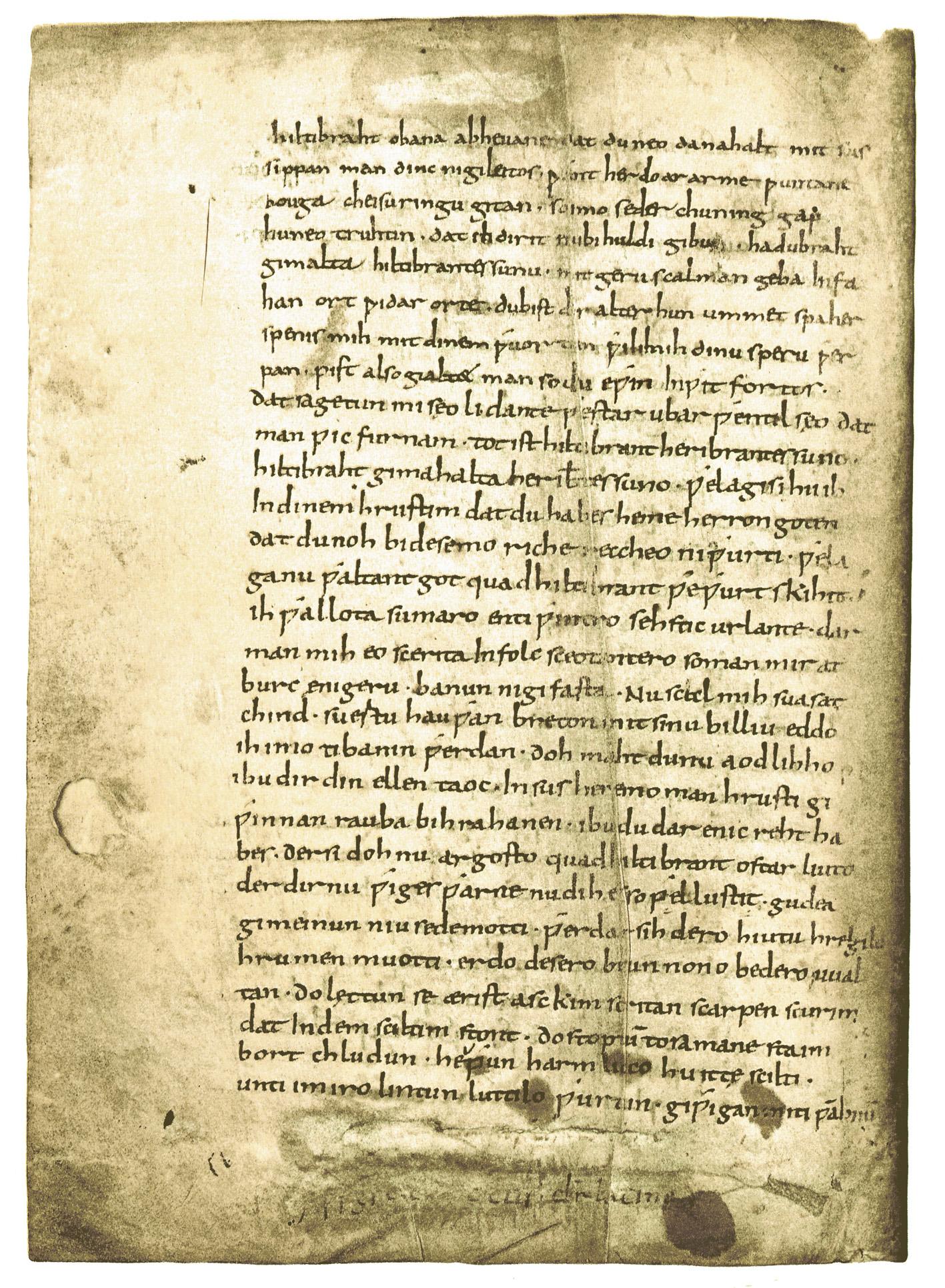 hiltibrant - fragmente mittelalterlicher handschriften